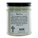 Bible Scents 9 oz Highly Scented Soy Candle with Bible Verse - Wine