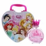 Disney Magnificent Beauties by Disney, 3.4 oz Eau De Toilette Spray for Girls with Metal Lunch Box