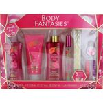 Pink Vanilla Kiss by Body Fantasies, 7 Piece Gift Set for Women