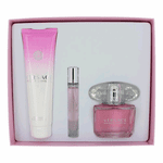 Versace Bright Crystal by Versace, 3 Piece Gift Set for Women