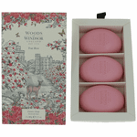 Woods of Windsor True Rose by Woods of Windsor, 3 X 2.1 oz Luxury Soap for Women