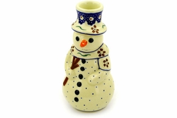 SnowMan Candle Holders