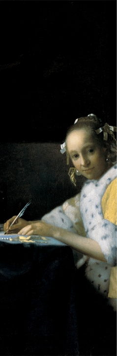 A Lady Writing Bookmark