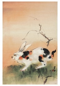 Chao Shao-an: A Wily Rabbit in an Autumn Field Notecard