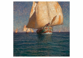 Edgar Payne: Adriatic Cargo Boats Notecard
