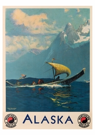 Sydney Laurence: Alaska Northern Pacific Postcard