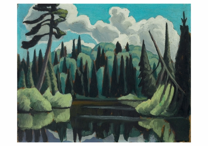 Lawren S. Harris: Lake, Algonquin Park Notecard