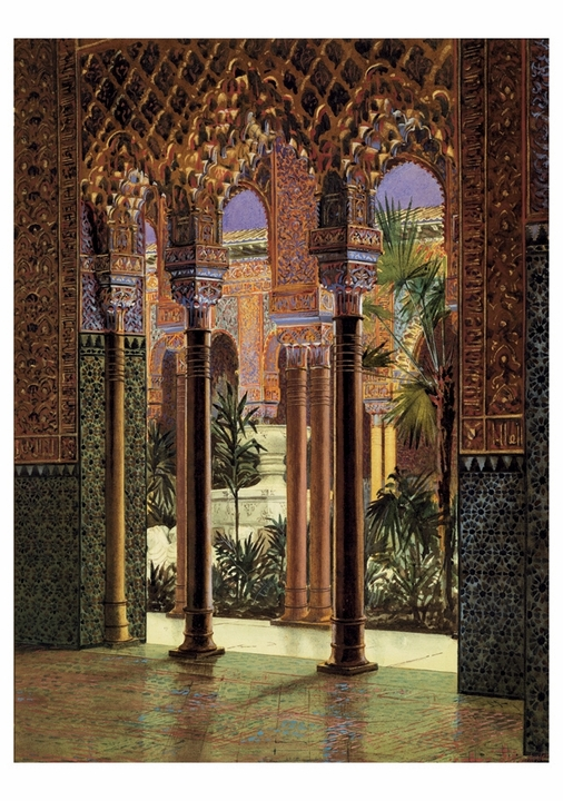 Alhambra Court in the Crystal Palace Notecard
