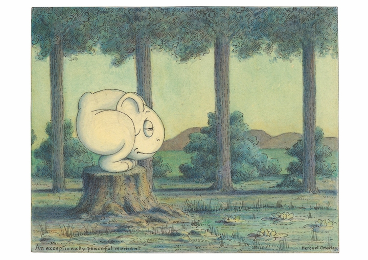 Herbert E. Crowley: An Exceptionally Peaceful Moment Postcard
