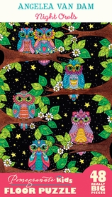 Angelea Van Dam: Night Owls Floor Puzzle