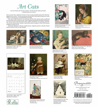 Art Cats 2020 Wall Calendar