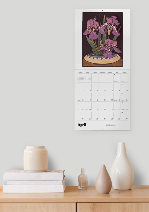 Arts & Crafts Block Prints of William S. Rice 2022 Wall Calendar