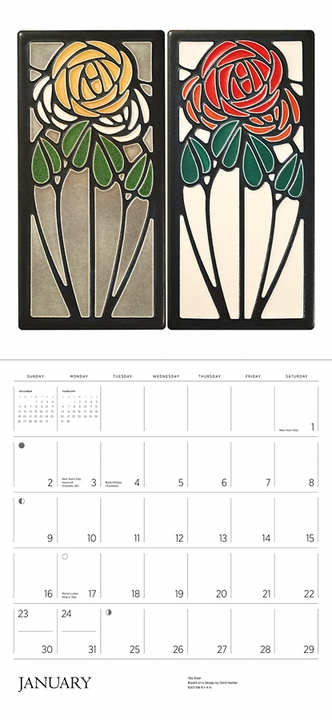 Arts & Crafts Tiles: Made by Motawi Tileworks 2022 Wall Calendar