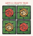 Arts & Crafts Tiles 2020 Mini Wall Calendar