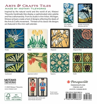 Arts & Crafts Tiles 2021 Mini Wall Calendar