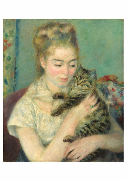 Auguste Renoir: Woman with a Cat Notecard