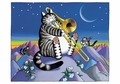 B. Kliban: Moonlight Serenade Birthday Card