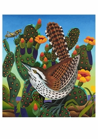 Billy Hassell: Eye on the Prize, Cactus Wren Birthday Card