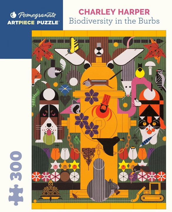 Charley Harper: Biodiversity in the Burbs 300-piece Jigsaw Puzzle