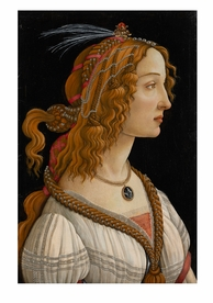 Botticelli: Idealised Portrait of a Lady Notecard