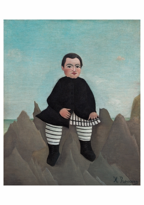 Henri Rousseau: Boy on the Rocks Notecard