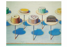 Wayne Thiebaud: Cake Window (Seven Cakes) Notecard
