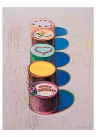 Wayne Thiebaud: Cakes Birthday Card