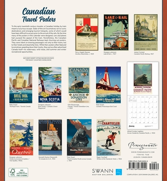 Canadian Travel Posters 2020 Wall Calendar
