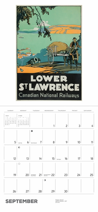 Canadian Travel Posters 2021 Wall Calendar