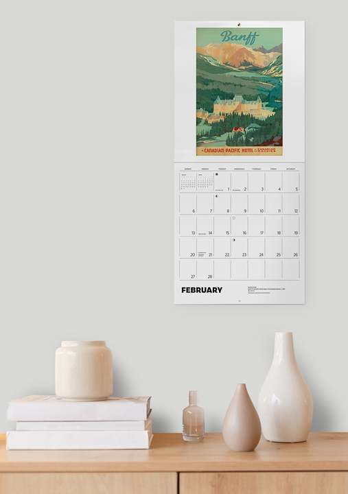Canadian Travel Posters 2022 Wall Calendar
