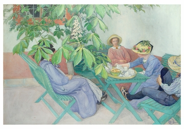 Carl Larsson: Under the Chestnut Tree Notecard
