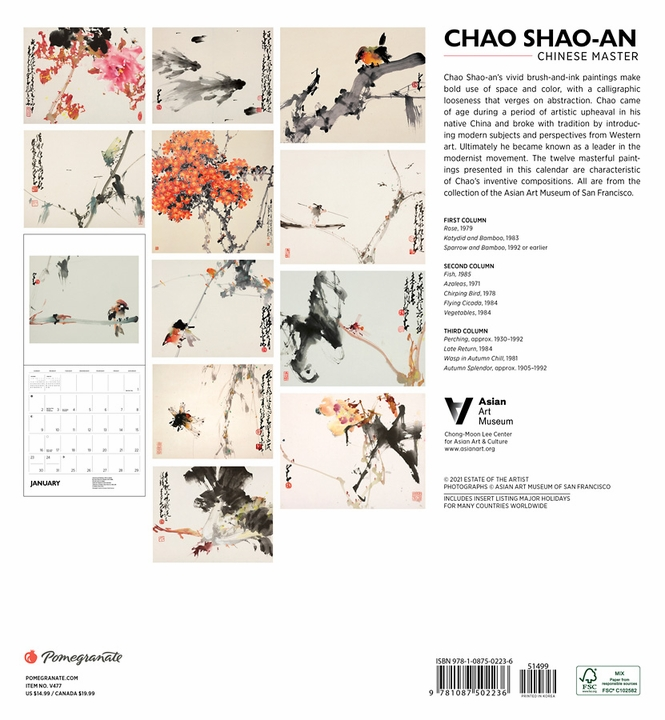 Chao Shao-an: Chinese Master 2022 Wall Calendar