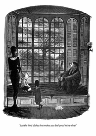 Charles Addams: Good to be Alive Birthday Card