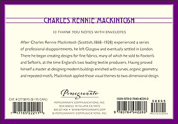 Charles Rennie Mackintosh Boxed Thank You Notes