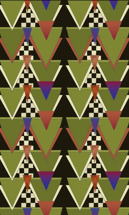 "Charles Rennie Mackintosh: Triangle Pattern 3 x 5"" Notepad"