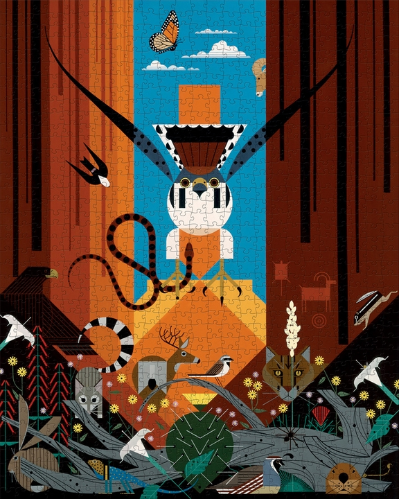 Charley Harper: Canyon Country 1000-Piece Jigsaw Puzzle
