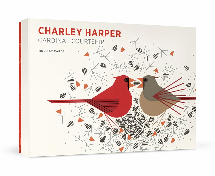 Charley Harper: Cardinal Courtship Holiday Cards