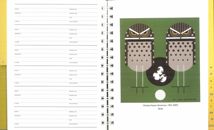 Charley Harper Deluxe Address Book