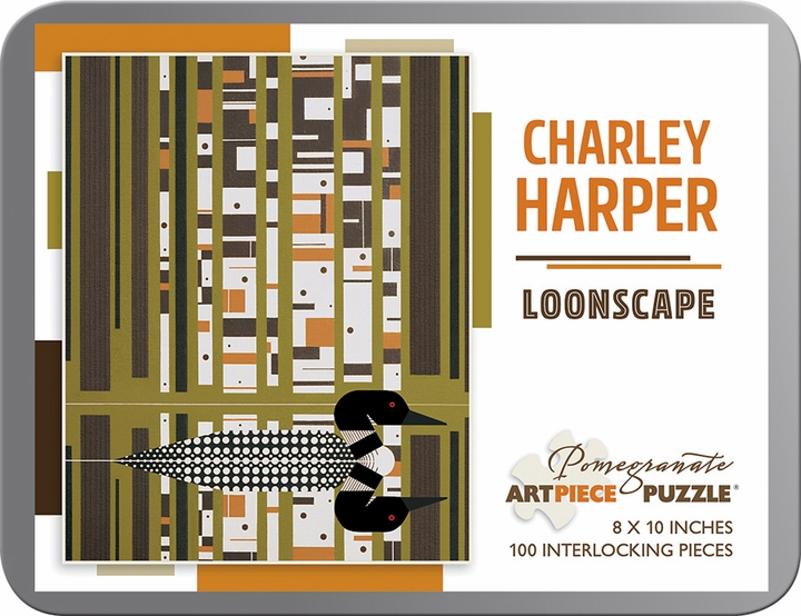 Charley Harper: Loonscape 100-Piece Jigsaw Puzzle