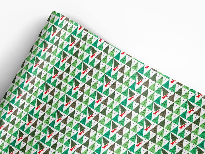 Charley Harper: Perfect Tree Designer Gift Wrap