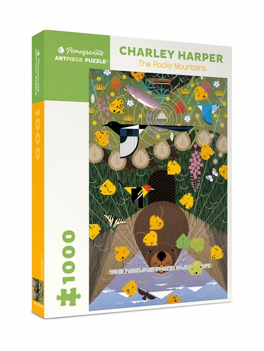 Charley Harper: The Rocky Mountains 1000-piece Jigsaw Puzzle