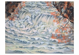 Chiura Obata: Mountain Stream in Autumn Notecard