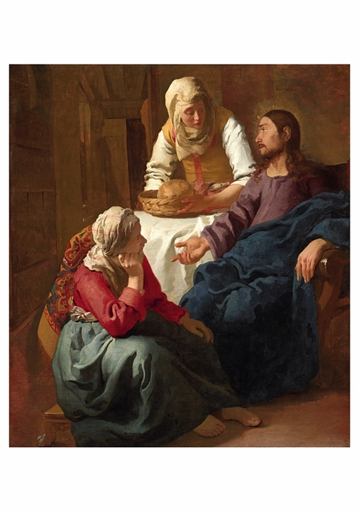 Johannes Vermeer: Christ in the House of Martha and Mary Notecard
