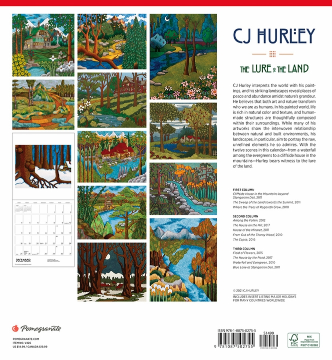 CJ Hurley: The Lure of the Land 2022 Wall Calendar