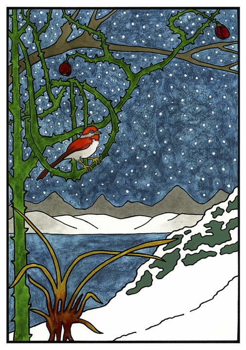 CJ Hurley: The Majesty of Winter Holiday Cards
