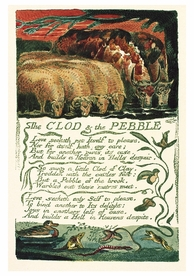 William Blake: Clod And Pebble Notecard