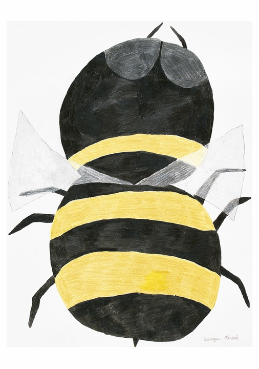 Composition (Bumble Bee) Notecard