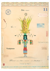 Corn with Corn Maiden Notecard