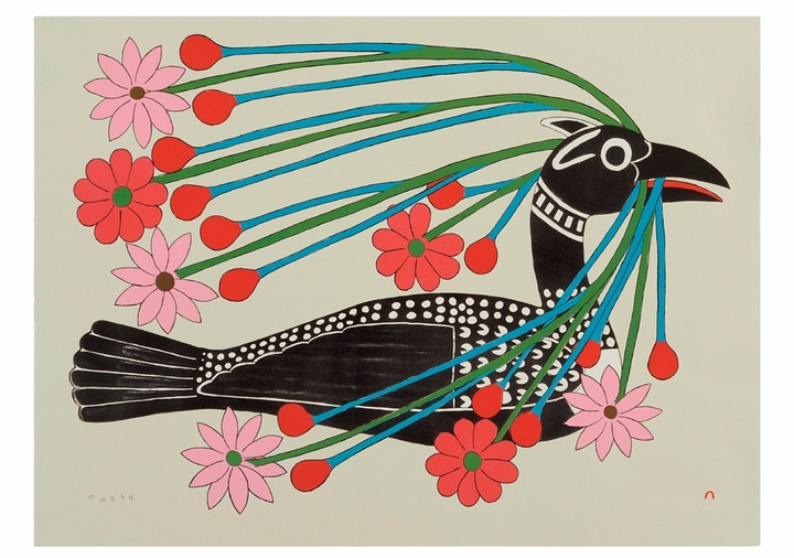 Kenojuak Ashevak: Courting Loon Birthday Card