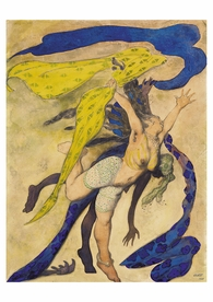 Léon Bakst: Costume Design for a Dancer and Slave Postcard